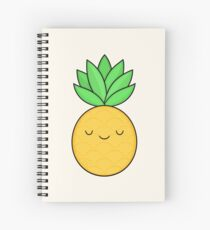 Happy Pineapple Spiral Notebook