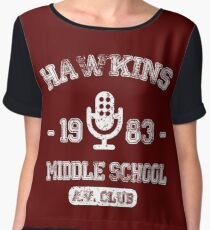 Hawkins Middle School 1983 - Stranger Things Chiffon Top