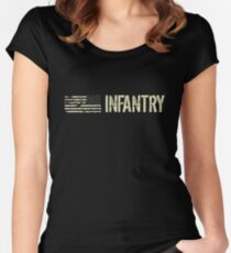 U.S. Military Infantry Women's Fitted Scoop T-Shirt