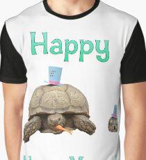 New Year Tortoises Graphic T-Shirt