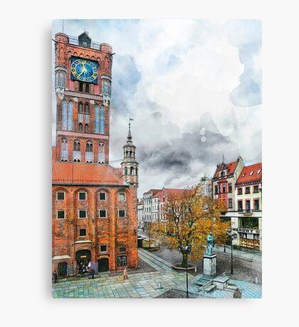 Torun city art 2 #torun #city Canvas Print