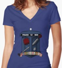 The Fan Crest Women's Fitted V-Neck T-Shirt