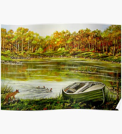 Irish Countryside - Oil Painting Poster