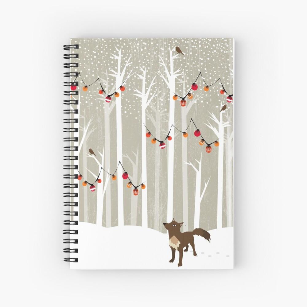 December Spiral Notebook