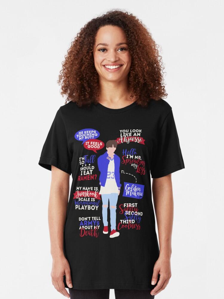 Alternative Ansicht von BTS Jungkook Zitate Slim Fit T-Shirt