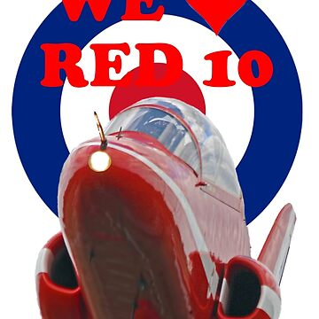 We Love Red 10 - Red Arrows Tee Shirt by Arrowman