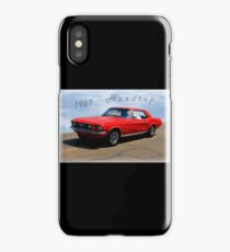 1967 Ford Mustang Hardtop iPhone Case/Skin