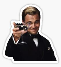 Leo as Jay Gatsby Sticker