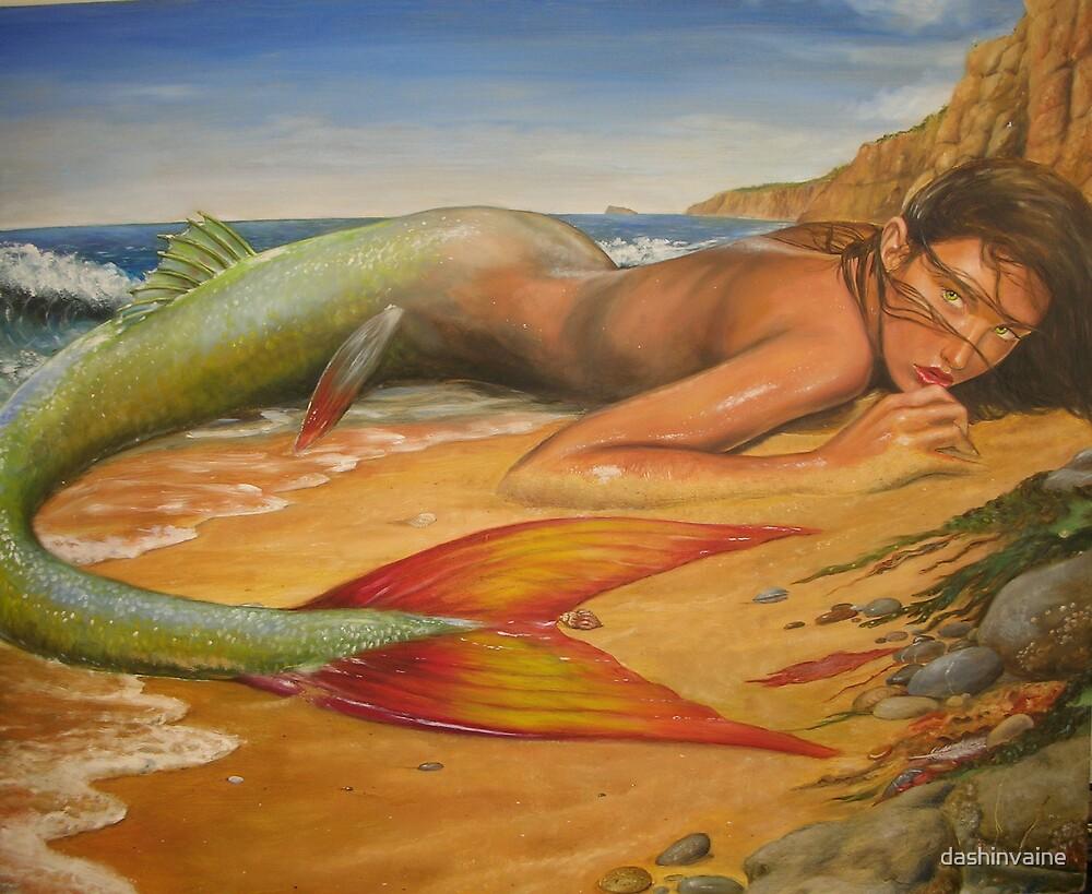 Beached Mermaid by dashinvaine