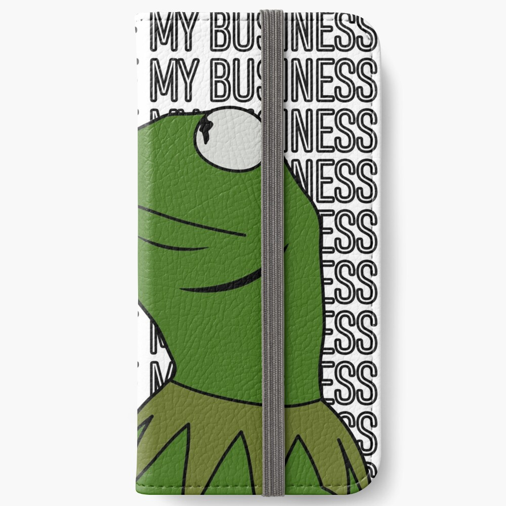 Kermit Sipping Tea Meme King but That's None of My Business 2 iPhone Wallet