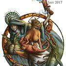 Salamander Six-Guns, by Sandro Castelli (Shimmer 38) by bethwodzinski