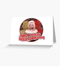 HOLLY DOLLY CHRISTMAS Greeting Card