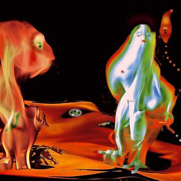 Heat on Mars - Hot Puck by CrismanArt