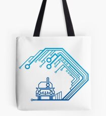 Wave-Circuit Tote Bag