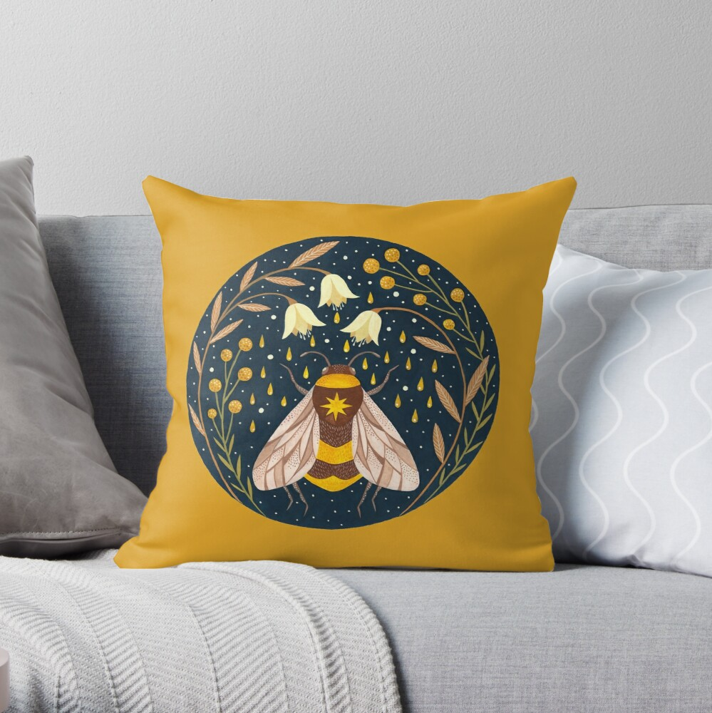 Harvester of gold Throw Pillow