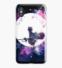 Little Witch Flying Over Moon iPhone Case/Skin