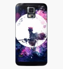 Little Witch Flying Over Moon Case/Skin for Samsung Galaxy
