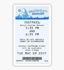 Matterhorn Bobsled Fastpass Sticker