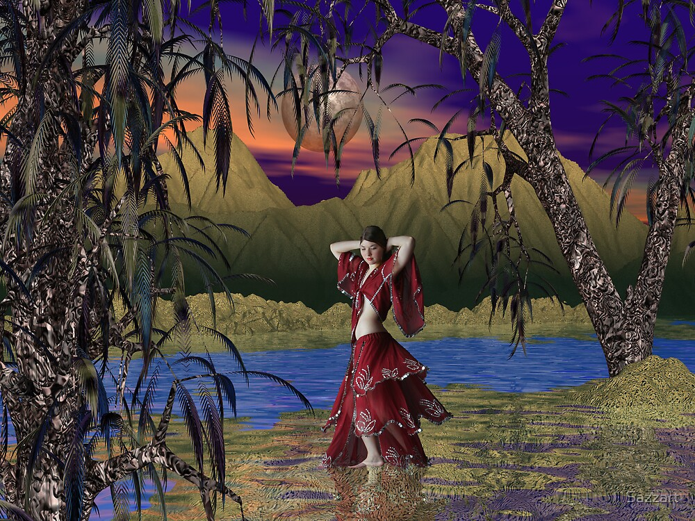 Oasis Dancer by Sazzart