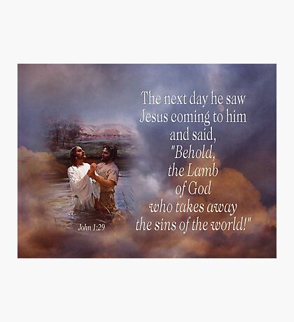Lamb of God-Jn. 1:29 Photographic Print