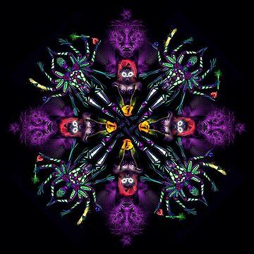 UV Goddess - mandala by Alienjedna