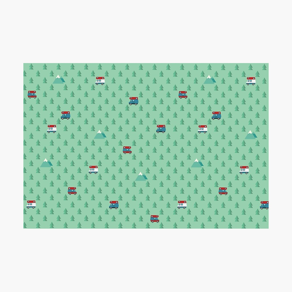 Animal Crossing pocket camp trees campers Photographic Print
