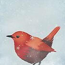 Little Red Robin in the Snow by Sybille Sterk