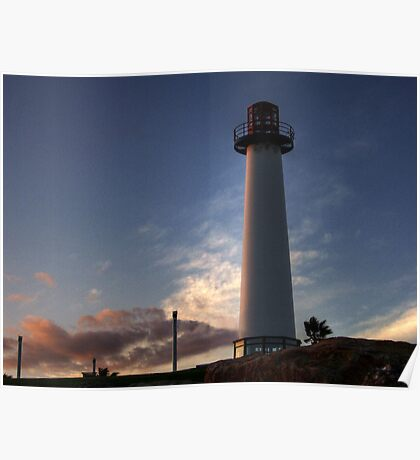 Lighthouse at Sundown  Poster