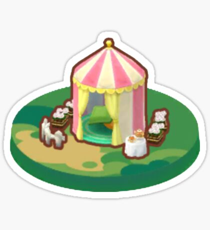 Animal Crossing Pocket Camp cute tent Sticker