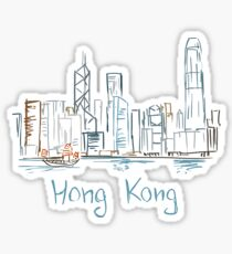 Hong Kong Panorama Sticker
