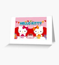 Hello Kitty Happy Birthday to you Greeting Card