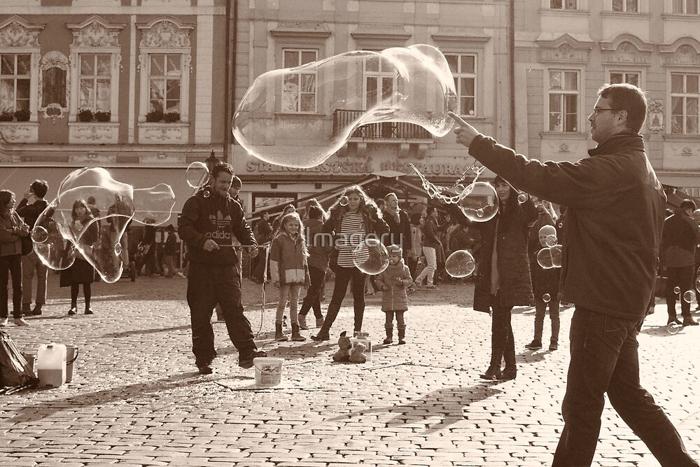 Bubble Man of Prague by Imagery