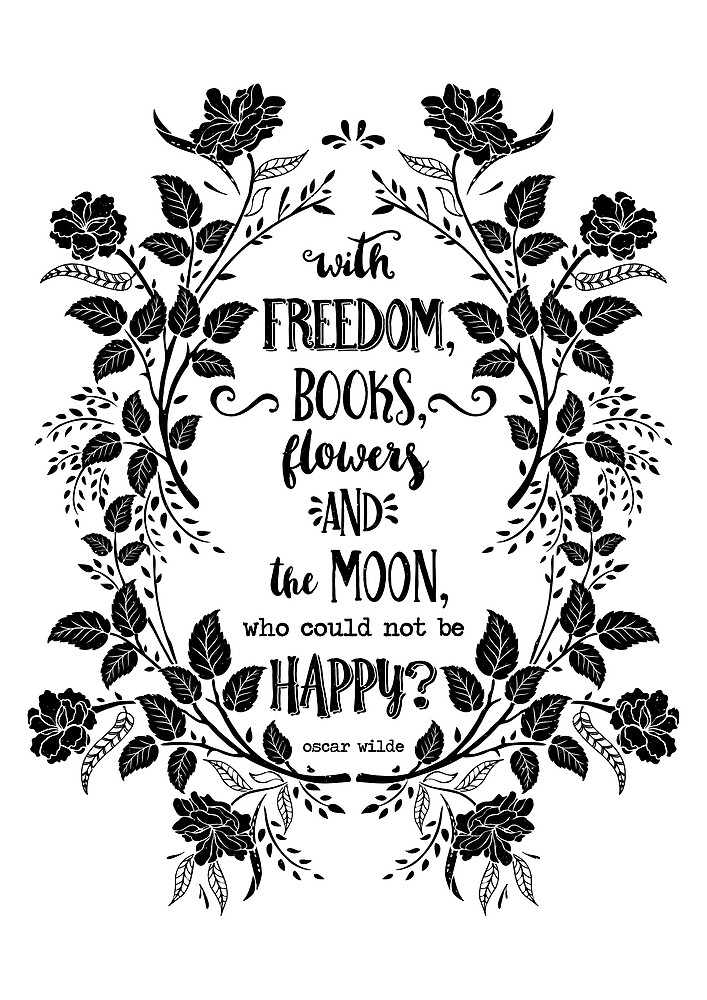 Freedom & Books & Flowers & Moon by LadyViolet
