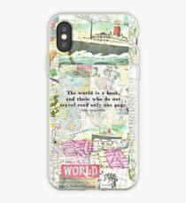 Die Welt ist ein Buch Reisezitat iPhone-Hülle & Cover