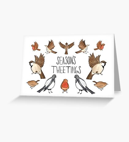 Season's Tweetings Greeting Card