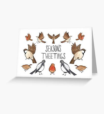 Season's Tweetings Greeting Card