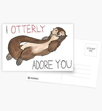 I Otterly Adore You Postcards