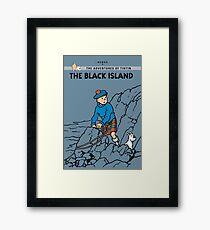 Tintin Black Island  Framed Print