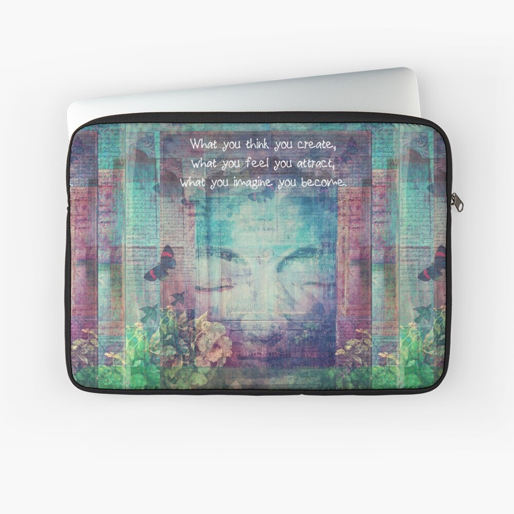Inspiring Buddha quote about positive thinking Laptop Sleeve