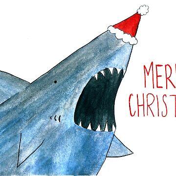 Santa Jaws by flailingmuse