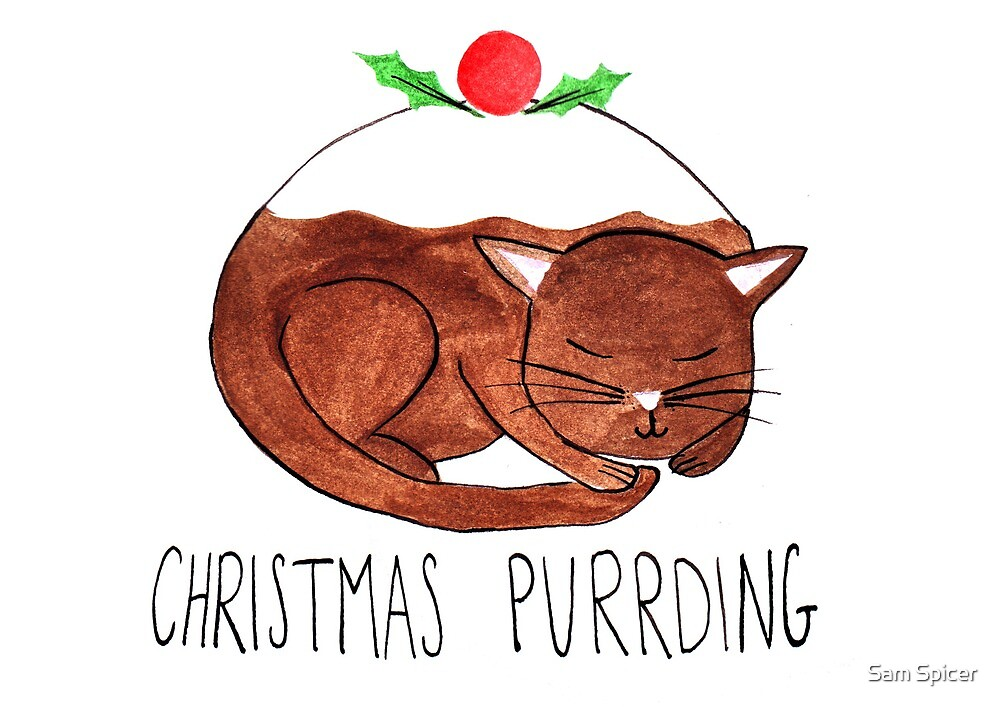 Christmas Purrding by flailingmuse