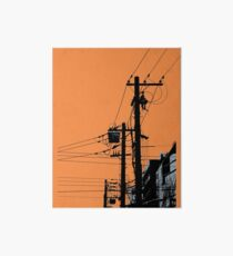 Urban Overhead Cables Art Board