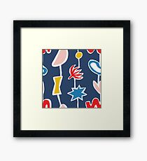 Cutout lines Framed Print