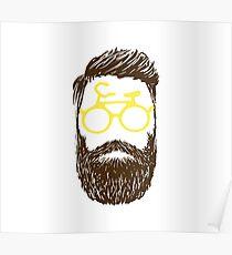 Hipster biker Poster