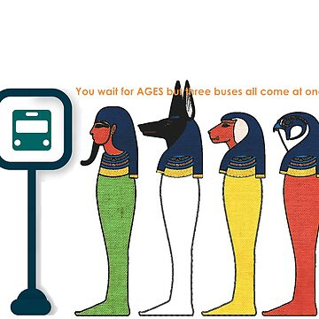 Egyptian Bus Stop by Artyteeslondon