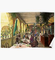 Restaurant - Waiting for service - 1890 Poster