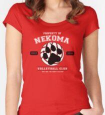 Team Nekoma Women's Fitted Scoop T-Shirt