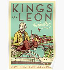 Kings of Leon NashvilleFirst Tennessee Park Poster