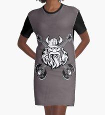 Viking Desing Graphic T-Shirt Dress
