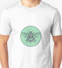 Bumble Bee Circle Mono Line  Unisex T-Shirt